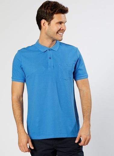 Cotton Bar Polo Yaka Tişört Saks